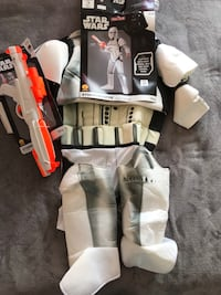 Disney STAR WARS STORMTROOPERS Children's Halloween Boys Costume with BLASTER kids Size LARGE 10-12 Alexandria, 22304