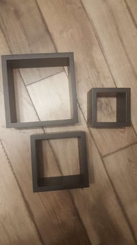 three square black wooden wall racks Bowmanville, L1C 2P2