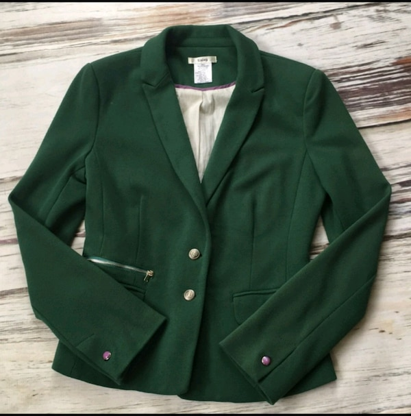 Esley Green Blazer Jacket Fitted Suit Coat Small 786585b5-c287-4256-9f36-1432b68a0345