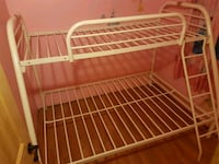 white metal bed frame with white mattress Orillia, L3V 6H7