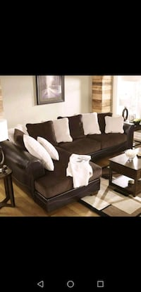 Delivery available. Plush sectional