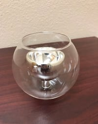 7 clear glass candle holders - obo San Diego, 92131
