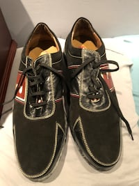 Brand new never worn Bally of Switzerland men's black suede shoes sz 9  Burnaby, V5G 3X4
