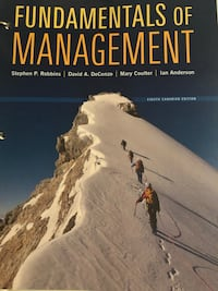 Fundamentals of Management book Eighth Canadian Edition  Mississauga, L5R