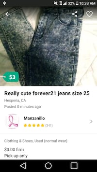 Really cute forever 21 size 25 Hesperia, 92345