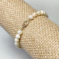 Authentic Pearl Bracelet with 14k Gold Clasp Ashburn