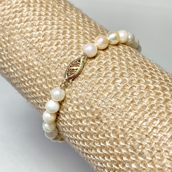Authentic Pearl Bracelet with 14k Gold Clasp 5639786f-20d0-47b8-bd4c-7cc695816b48