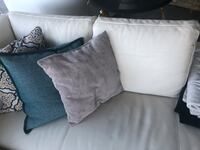 White Leather right sectional sofa  Vancouver, V6C 3R1