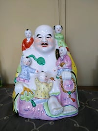 Top Quality Porcelain Laughing Buddha & Children Whitchurch-Stouffville