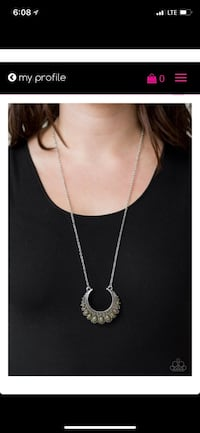 silver chain necklace with pendant Stockton