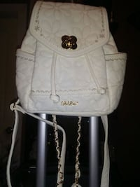 white and black leather backpack Surrey, V3S 0T7