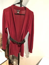 Women sweater jacket with belt size L 1206 mi