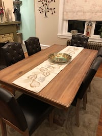 Beautiful heavy rustic wood dining table