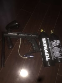 Tippman custom pro paintball MINT CONDITION.     No lowballing need gone