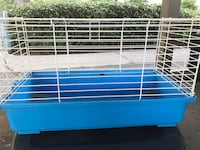 White and blue pet cage Fresno, 93727