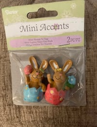 3 sets of resin bunny waster decorations Stephens City, 22655