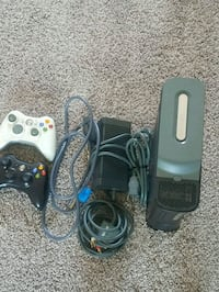 black Xbox 360 console with controllers Cambridge, N3C 4J6