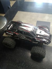 Toddler's white, red, and black Monster Truck toy