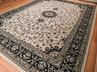 white and black floral area rug 23 mi