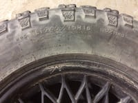 Four SNOW tires with rims $120 or best offer  Tecumseh, N0R