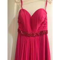 Bright pink size 4 floor length dress Sterling Heights, 48314