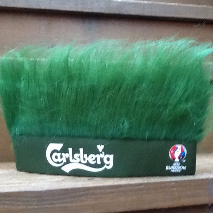 Carlsberg Beer Green Turf Head UEFA Soccer Euro 2016 France Hat - New 9367fd86-0650-4adb-a1f7-9171a1156f0f