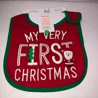 NEW WITH TAGS Carters Just One You MY VERY FIRST CHRISTMAS teething bib feeding Independence