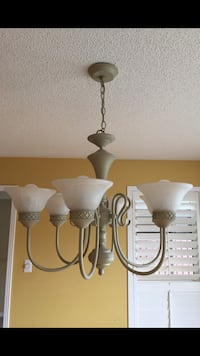 white and gray uplight chandelier Toronto, M9N 3X8