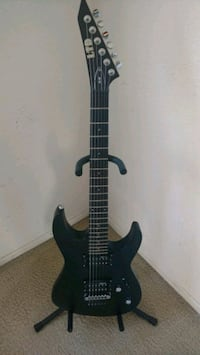 black and brown electric guitar Indio, 92201