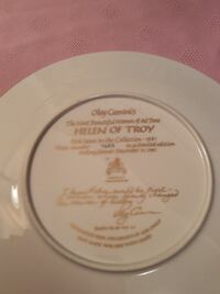 Numbered Edition Helen of Troy Gold Rimmed Plate RICHMONDHILL