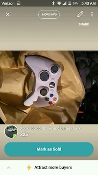 Xbox 360 controller with battery pack Newark, 94560