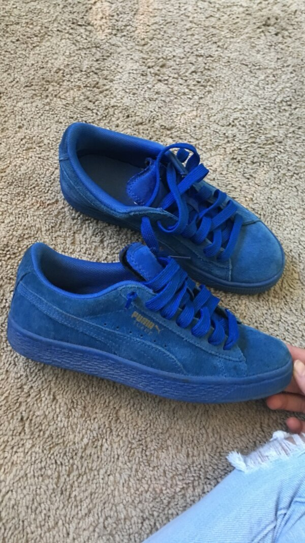 Used blue suede Puma sneakers for sale in Moreno Valley - letgo 4c449796b