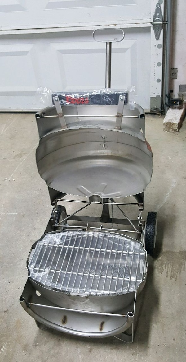how to make a keg grill