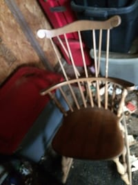 A beautiful small rocking chair
