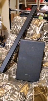"""It's a 36"""" samsung sound bar with 12 """" subwoofer and mounting bracket, Brentwood, 37027"""