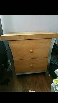 pair of brown wooden 2-drawer nightstands Chula Vista, 91910