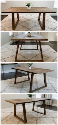 6FT x 3FT Solid Wood Rustic Modern Dining Table