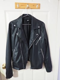 Black moto jacket H&M Spring Icon Collection