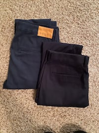 Made & Crafted Levi's Navy Chinos and Express Black Pants - size 34