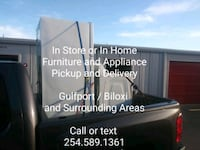 Furniture & Appliance delivery. In store/In home