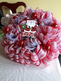 red, white, and black wreath MOUNTPEARL