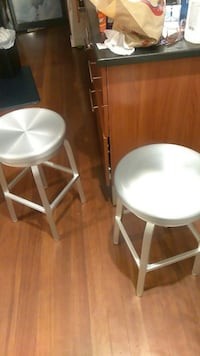 Two Crate and Barrel stools Lynn