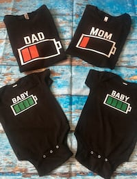 NEW made to order - battery life family T-shirt set Toronto, M9A 1G8