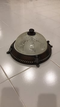 White and black dome light fixtures 2 items Annandale, 22003