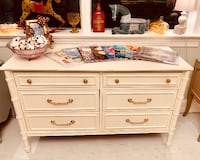 Hollywood Regency White Double dresser Kensington