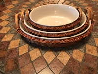 Nesting Bake and Serve Casserole Dishes with Baskets Sioux Falls