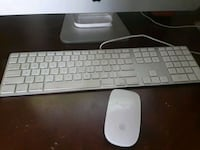 white Apple wireless keyboard and mouse Colorado Springs, 80906