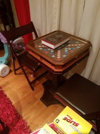 Scrabble board game with brown wooden pedestal sta Prince George's County, 20737