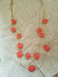 Pink and gold beaded necklace Bristow
