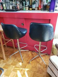 two black leather bar stools Mississauga, L5R 2H6